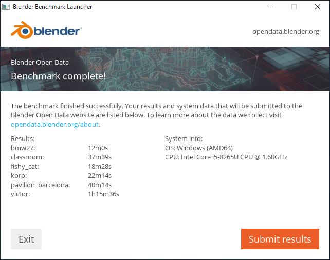 Intel Core i5-8265U(Blender_CPU)