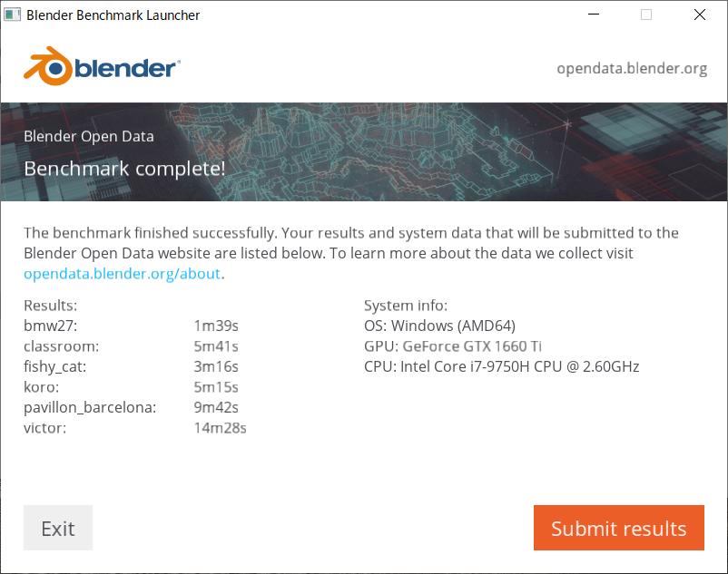 GeForce GTX 1660 Ti Blender_CUDA